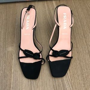 Prada Satin Slingback Sandals